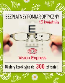 VISION EXPRESS Bezpłatne wstępne badanie wzroku