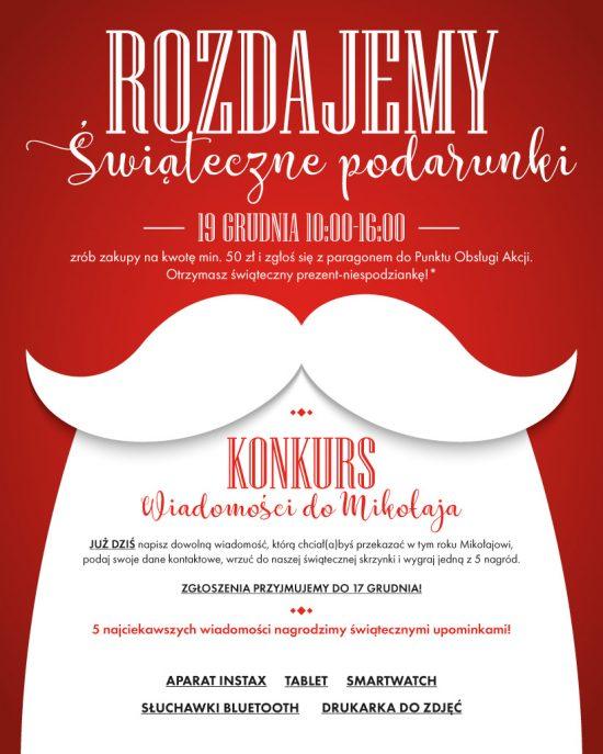 Rozdajemy Świąteczne Podarunki i nagrody w KONKURSIE Wiadomości do Mikołaja!